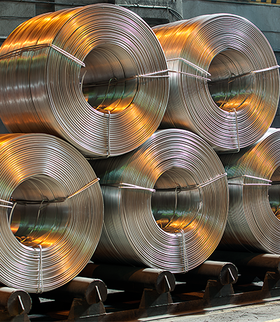 Wire of aluminium alloys