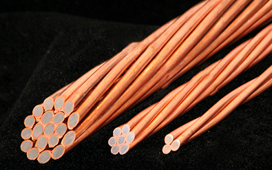 Bimetallic wire rods for cables